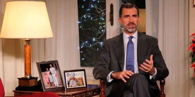 Gran repercusión en todos los medios del discurso navideño de Felipe VI. Foto: Casa Real
