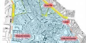 La circulación de la zona de Ópera, limitada a partir de agosto.
