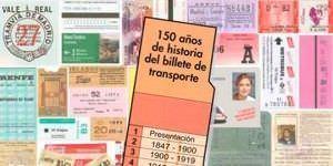 La historia del transporte de Madrid, a través de sus billetes.