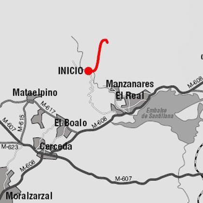 De Canto Cochino a Giner de los Ríos: mapa