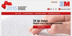 El Portal de las Elecciones, nueva web para los electores madrileños.