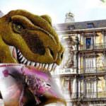 Salir en un sello con un dinosaurio o hacer un puzzle gigante, en la Feria del Sello