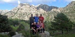 Carlos, Cristina, Laura, Miguel, Pepe y Dani, miembros de Komokabras.