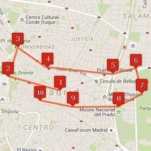 Conoce Madrid en 10 pasos.