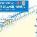 Metro corta la línea 6 entre Puerta del Ángel y Oporto por obras