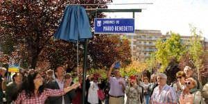 Inaugurción de los jardines de Mario Benedetti.