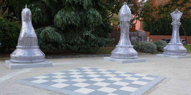 Un nuevo parque dedicado al ajedrez en pleno chamart n for Ajedrea de jardin