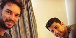 Pau Gasol y Joaquín Joan. Foto de Pau Gasol en sus redes sociales