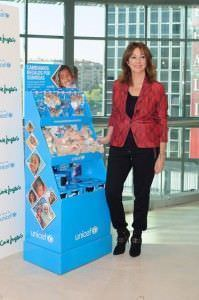 Ana Rosa Quintana, durante el acto de entrega del cheque a Unicef. Foto: Carlos Bouza