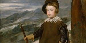 Detalle de 'El Príncipe Baltasar Carlos, cazador', de Velázquez.