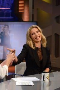 Elsa Pataky en un momento de la entrevista en El Hormiguero. Foto: Carlos Bouza