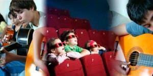 Crear cine o música, una opción navideña para niños y jóvenes.