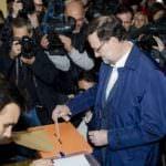 Los líderes políticos madrugan para votar