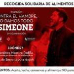 Simeone recauda 16 toneladas de alimentos para Cruz Roja