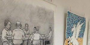 Exposición tapices personas con Alzheimer