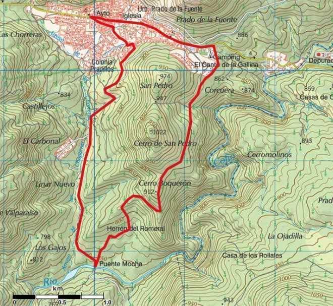 Mapa Ruta Valmaqueda