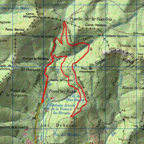 Mapa Ruta Valle de la Fuenfría