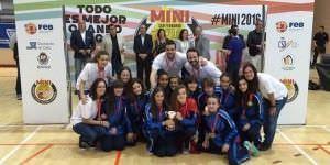 Selección femenina de minibasket. Foto: Federación de Baloncesto de Madrid