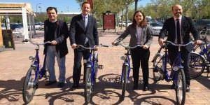 Sistema combinado de bicicletas y transporte público