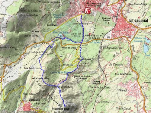 mapa ruta las machotas