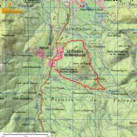 Mapa ruta Cueva del Monje