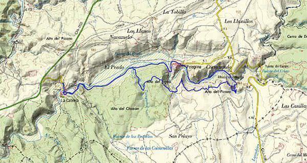 Mapa Ruta Barranco Río Dulce