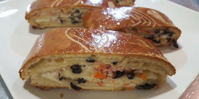 tronco pan relleno receta