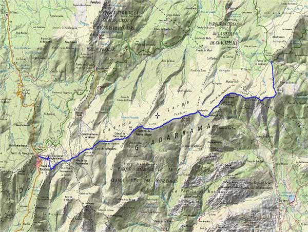 Mapa ruta Cuerda larga