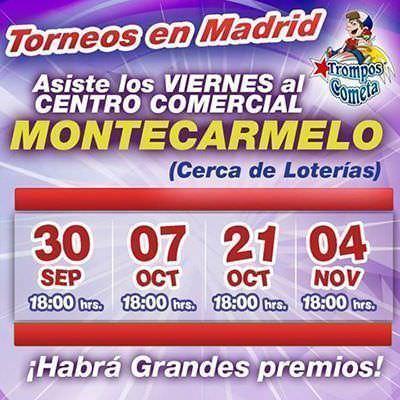Cartel torneo de peonzas 2016 Madrid