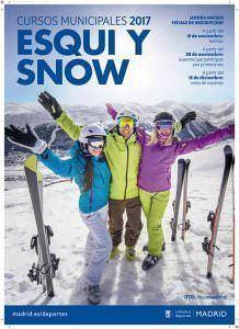 Cartel de los cursos de esquí y snow 2017