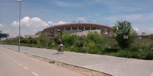 Carril bici en el entorno de La Peineta