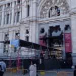 Arreglos en la fachada del Palacio de Cibeles para evitar daños