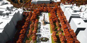 Propuesta finalista para la Plaza de España: Un paseo por la cornisa