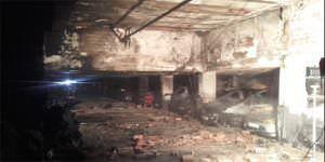 Incendio en un garaje de Las Rosas (San Blas)