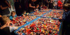 Espacio para construcción en 'The Art of the Brick'