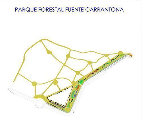 Plano del parque forestal fuente carrantona