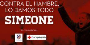 Simeone y Cruz Roja, campaña solidaria