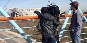 La televisión alemana se interesa por la nueva Peineta y las opiniones de los vecinos
