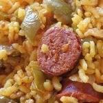 Receta de arroz con verduras y chorizo