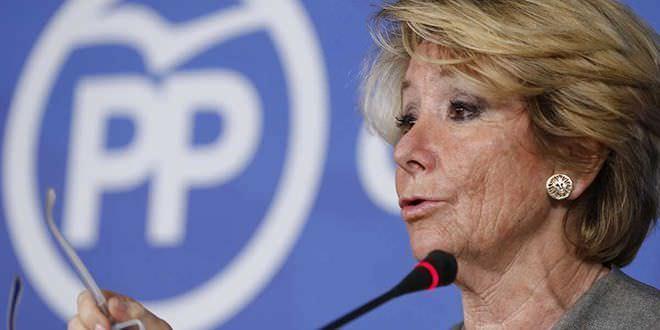 Dimite la ex presidenta de la Comunidad de Madrid