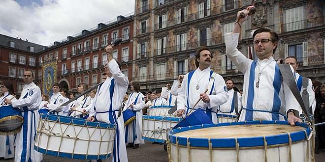 Semana Santa Madrid. Tamborrada