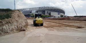 Obras para el aparcamiento del Wanda Metropolitano