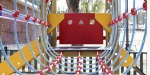 Nuevos elementos de juego más accesibles en los parques infantiles de Madrid