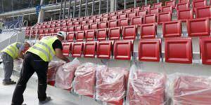 Nuevos asientos en el Wanda Metropolitano
