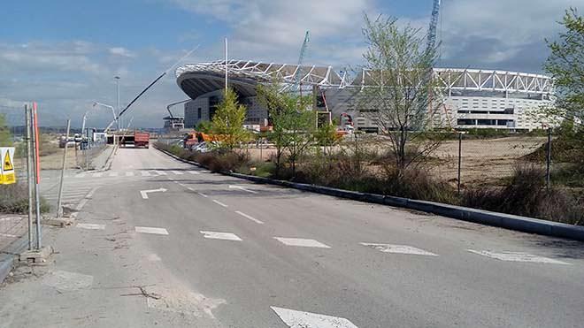 Nueva entrada al estadio Wanda Metropolitano