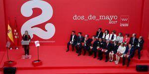 Acto de entrega de las Medallas del Dos de Mayo 2017.Foto: D. Sinova / Comunidad de Madrid