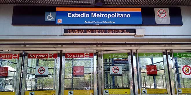 Estación de Metro Estadio Metropolitano, antes Estadio Olímpico