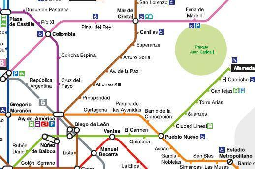 Plano Metro de Madrid