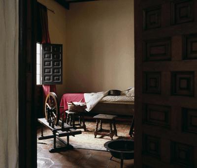 Una de las estancias del que fuera hogar de Miguel de Cervantes