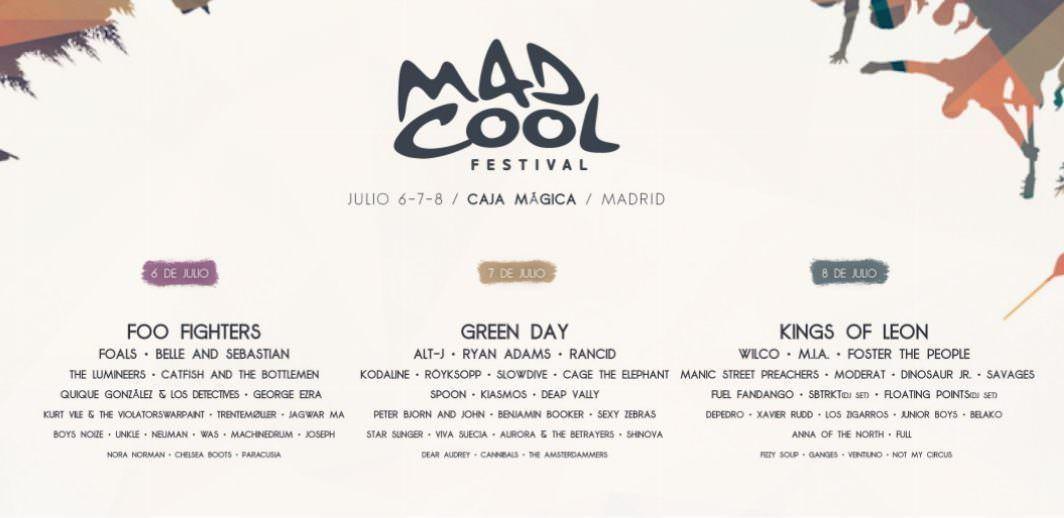 Cartel del MAd Cool con sus más de 60 bandas invitadas